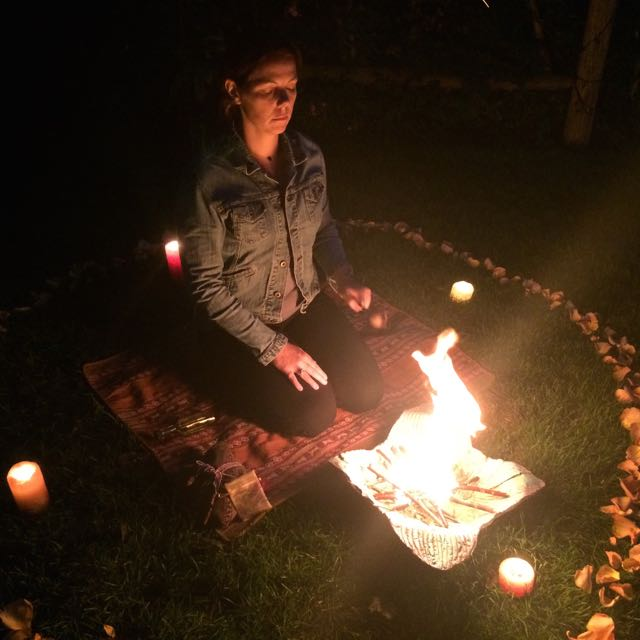 Mid-night fire ceremony - Lori A Andrus